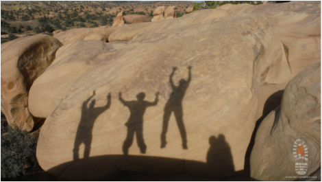 Picture, image, rock art, kids, family, Utah, desert, Escalante-Grand Staircase National Monument, arches, slot canyons